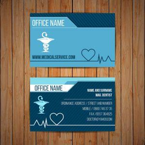 in danh thiếp bác sĩ, y tế, nha khoa, phòng khám, bệnh viện